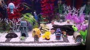 Spongebob Aquarium Decor Set by Hexbug Aquabots Jellyfish Shark Attack At Spongebob Fish Tank