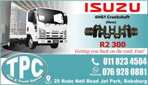 100 Quality Truck Body Isuzu 4HG1 Crankshaft New Replacement Spare
