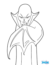 Coloriage VAMPIRE HALLOWEEN 17 Coloriages DHalloween Gratuits à