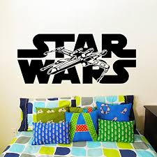 wall decals star wars logo xwing x wing fighter x wing children