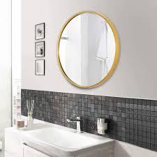 aufhellen rund wandspiegel mit metallrahmen gold spiegel aus