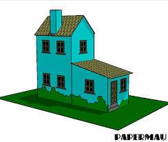 Simple Miniature House Paper Model