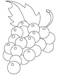 Multiple Color Fruit Grapes Coloring Pages