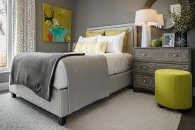 On The Combo Of Gray And Chartreuse Woodrum Says This Was Very Much A Monochromatic Room We Just Needed Little Pop Color To Make It Fun