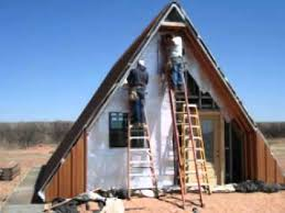 A frame Cabin House