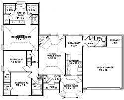 Story House Plans by 4 Bedroom One Story House Plans Marceladick