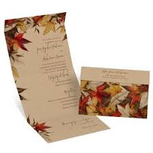 Rustic Wedding Invitations Autumn Maple Seal And Send Invitation