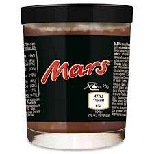 mars creme brotaufstrich im glas als trinkglas verwendbar 200g