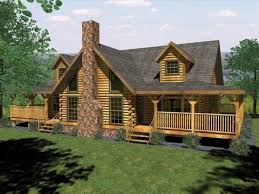 Log Cabin Ranch Style House Plans With Loft Rustic Home Basement Homes Designs 960