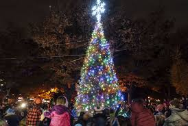Bright Christmas 1500 People Gather On Fifth Avenue For Park Slope Tree Lighting