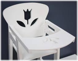 18 Inch Doll Furniture Wooden Doll High Chair With Lift-Up Tray - (18