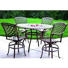 5 Piece Bar Height Patio Dining Set by Darlee Sedona 5 Piece Cast Aluminum Patio Counter Height Bar Set