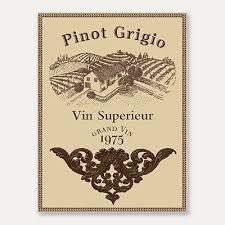 SET Square Stenciled WINE Kitchen Decor TUSCAN See More Pinot Grigio Label Wall