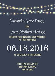 Wedding Invitation Affordable Invitations RSVP Rustic Vintage Lights Night Sky Blue And Yellow Summer