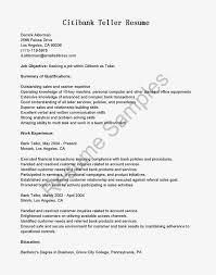 Cover Letter Bank Teller Resume Templates For A Sample Bank
