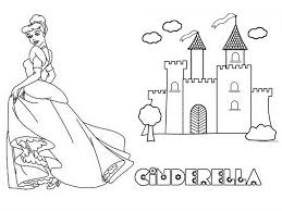 Castle Coloring Pages Cinderellas Disney Printable Large Size