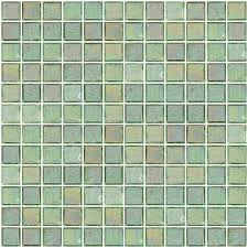 glass tile 1 inch coke bottle clear green iridescent glass tile