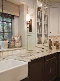 Farmhouse Style Sink by Photos Hgtv White Cottage Style Kitchen With Open Shelving And A