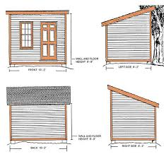 8x10 Shed Plans Materials List by 8 10 Lean To Shed Plans U0026 Blueprints For A Durable Slant Roof Shed