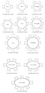 Dining Room Table Sizes Round Size For Average Chair