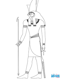 HORUS Egyptian God Coloring Page