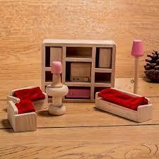 badezimmer horbous puppenhausmöbel set holz puppenhaus