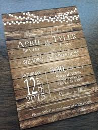 Rustic Wedding Invitation Barn Country Fall Wood Background By A Invitations