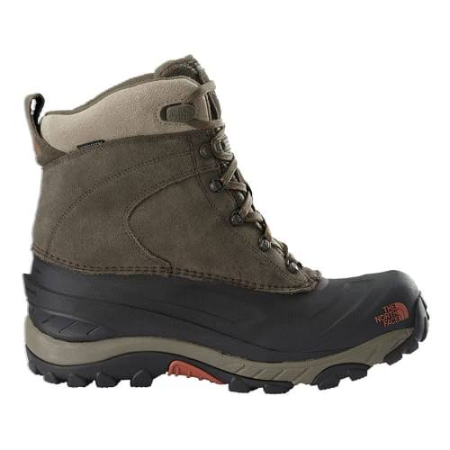 The North Face Men's Chilkat III Waterproof Winter Boots - Mudpack Brown, Bombay Orange, 12 US