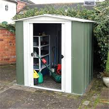 6x5 Shed Double Door by 6 X 5 Deluxe Metal Apex Shed