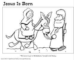 Free Nativity Coloring Pages For Kids