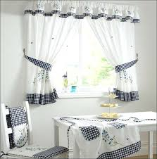 White Kitchen Curtains With Black Trim by Blue White Kitchen Curtains Full Size Of Red And Black Yellow Aqua