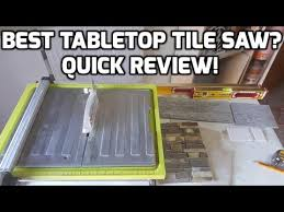 Qep Wet Tile Saw 22650 by Best Tabletop Tile Saw Quick Review On This Ryobi Tile Saw Youtube