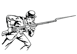 Lego Army Coloring Pages Bayonet To Print