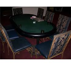 CUSTOM POKER TABLE WITH (8) LIKE NEW WROUGHT ... Bell Deco Table Chair Rentals 63 Business Card Designs 3piece Folding Set 2 Chairs And Table Walmartcom Round Glass 6 Chairs Worcester 7733 2533 Vtg Retro Samsonite 4 Wild West Decoration Wooden Stock Vector Hillsdale Warrington 6125801b Caster Game With Brown Classic Poker Ding In Le1 Leicester For 9900 Charles Rennie Mackintosh Set A Wedding Birthday Setting White Empty Plates Blank Black Cards Chips