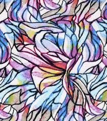 100 Flannel Flower Glass Snuggle Fabric Colorfuls Stained JOANN