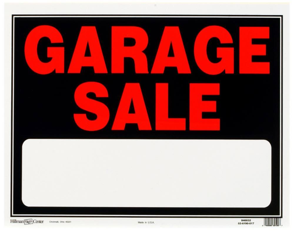 "Hillman Fastener Garage Sign - Black and Red, 15"" x 19"""