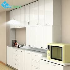 For Kitchen Cabinet Solid DIY Decorative Film Furniture Renovation Wall Sticker PVC Home Decor Vinyl Self Adhesive Wallpaper In Stickers From