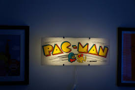 Vintage Pac Man Arcade Marquee Wall Light
