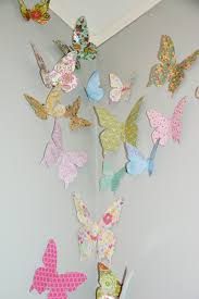 Paper Butterflies Are On Wall