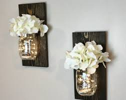 Mason Jar Wall Decor Farmhouse Rustic Home