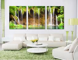 Aliexpress Buy 3 Piece Wall Art Painting Free Shipping Canvas Strong Waterfall Natural Beauty Unframed Pictures For Living Room From