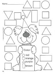 Coloring Activities For Preschoolers School A Shapes Printable Worksheets
