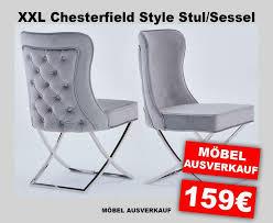 designer chesterfield style sessel esszimmer stuhl samt neu