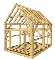 12x16 timber frame shed plans roof pitch cabin and backyard