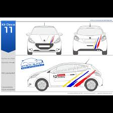 deco voiture de rallye kit déco rallye 11