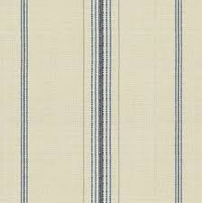 Blue Feedsack Style Cotton Stripe Fabric
