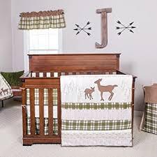 Amazon Trend Lab Deer Lodge 3 Piece Crib Bedding Set Cream