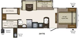 Outdoor Kitchen And Double Bunkhouse 1 Rv Al Source Floorplan Title