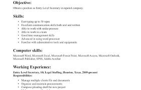 Secretary Resume Format Amazing For Templates School Vintage Examples Company Executive Resumes