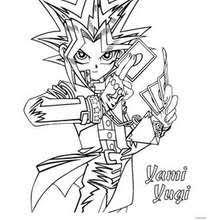 Yu Gi Oh 1 Yami Yugi Coloring Page